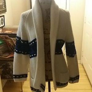 Vintage old school bulky open sweater